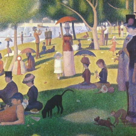 Un dimanche après-midi à l'Île de la Grande Jatte, Georges Seurat, 1884 - 1886