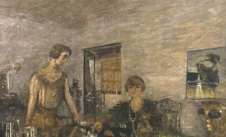 Edouard Vuillard, Misia Sert et sa nièce, Mimi Godebska. Les Tasses noires, 1925