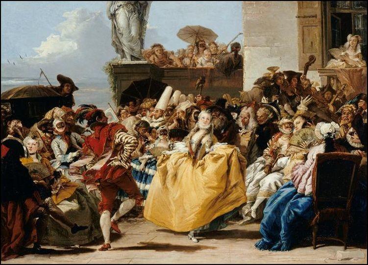 Giandomenico Tiepolo, Scène de carnaval, 1750