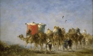 Caravane dans le désert, Narcisse Berchere,  , XIXème siècle