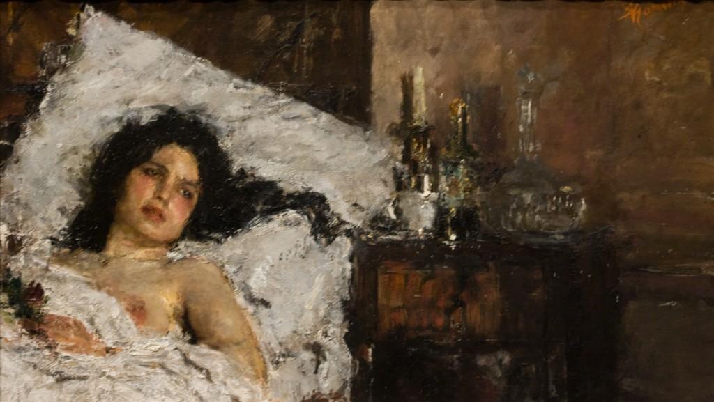 Le repos, Antonio Mancini, 1887