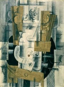 Compotier et Cartes, Braque, 1913
