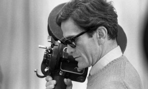 Pier Paolo Pasolini sur leplateau du film « Théorème »