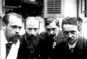 Ker-Xavier Roussel, Édouard Vuillard, Romain Coolus, Felix Vallotton, photographie,1899.
