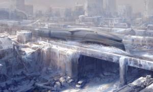 train gelé