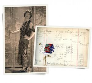 Jeanne Toussaint posant pour un reportage de mode dans les années 20