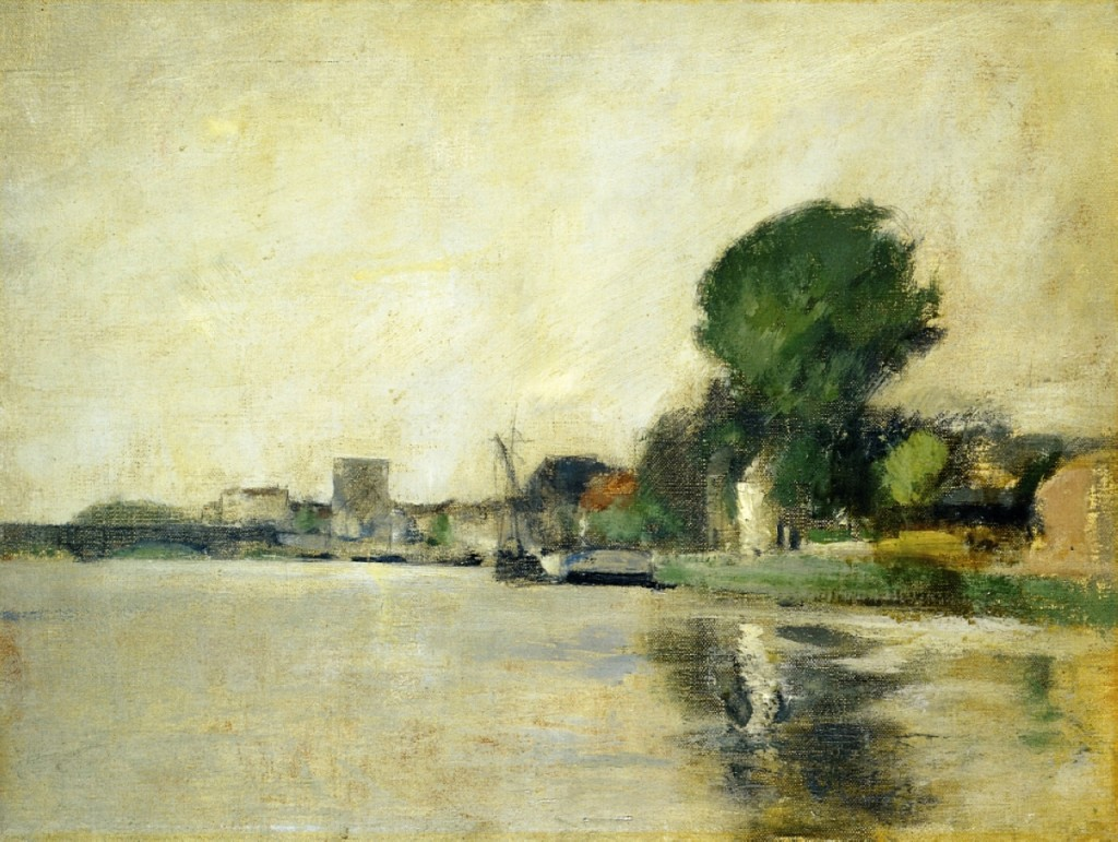 View along a river, John Henry Twachtman ,