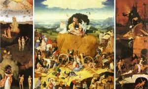 Le chariot de foin, Hyeronimus Bosch, c. 1501-1502, Monastère de l'Escurial