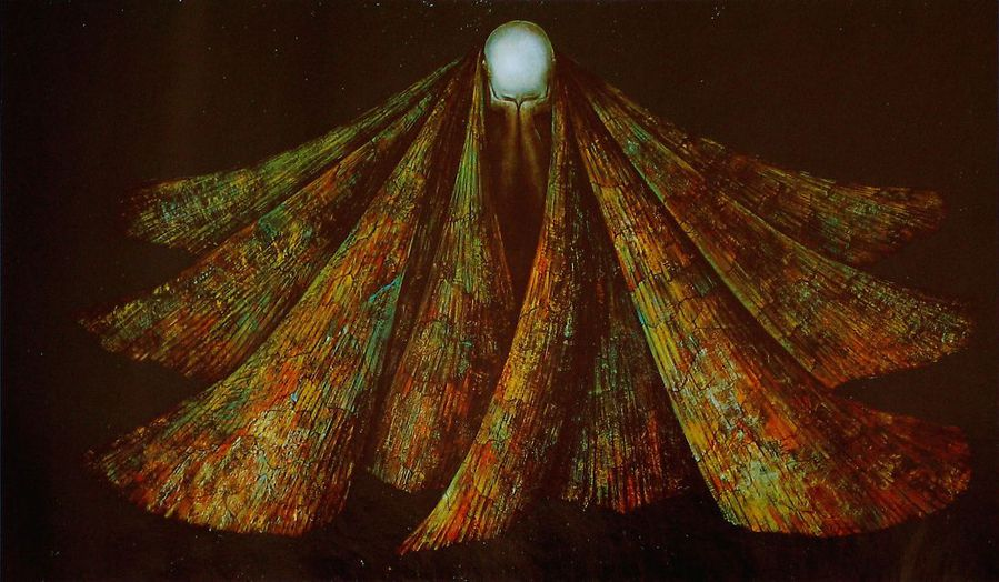 L'Enroulement du silence, Léonor Fini, 1955