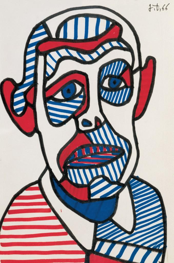Jean Dubuffet, autoportrait.