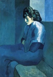 Femme assise au fichu, La Mélancolie, Picasso, 1902