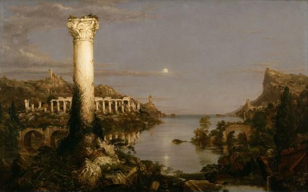 Thomas Cole, La destruction des empires. Désolation, huile sur toile, 1836.