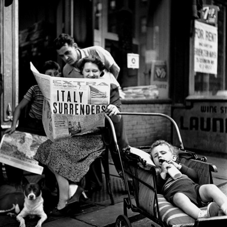 Italy+Surrenders,+NY+1943+by+Fred+Stein