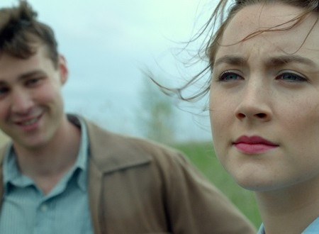 """Emory Cohen as """"Tony"""" and Saoirse Ronan as """"Eilis"""" in BROOKLYN. Photo courtesy of Fox Searchlight Pictures. © 2015 Twentieth Century Fox Film Corporation All Rights Reserved"""
