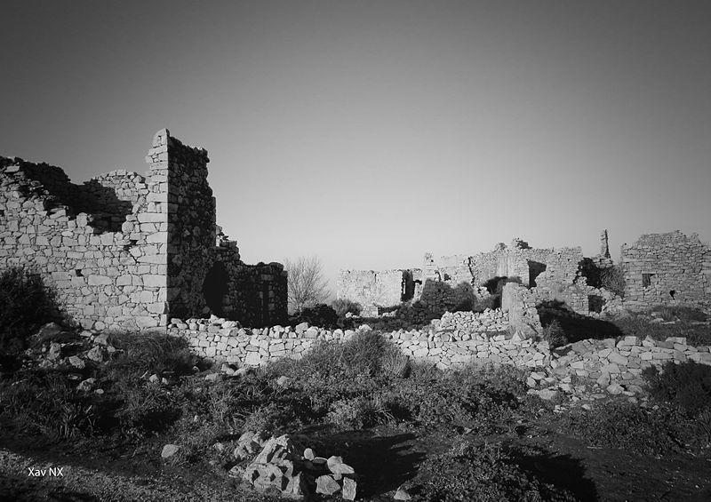 Les hauteurs du village de Lumio durant l'été.