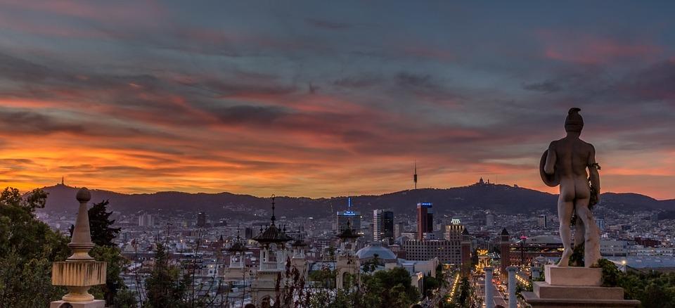 La ville de Barcelone est récurrente dans l'oeuvre de Marc Biancarelli.