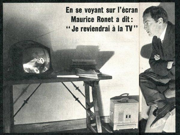 Ronet devant la télévision