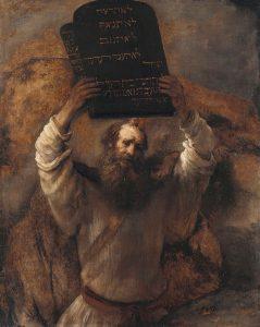 Moïse recevant les tables de la Loi, par Rembrandt