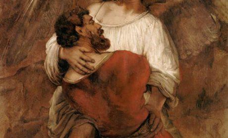 Lutte de Jacob avec l'Ange, par Rembrandt (1660)