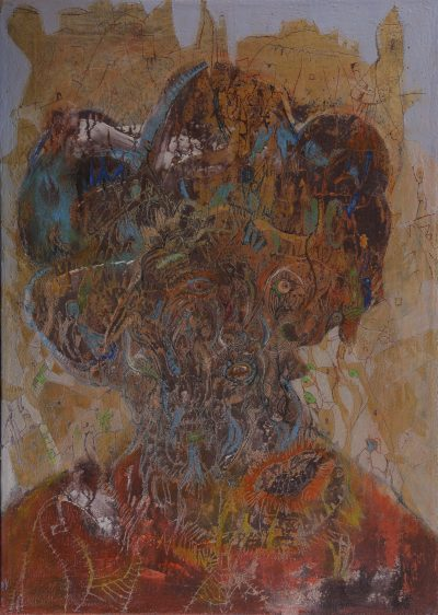 SIMONOVIC Igor, Autoportrait (34), 2013, 80x60cm, techniques mixtes sur toile, MNMA