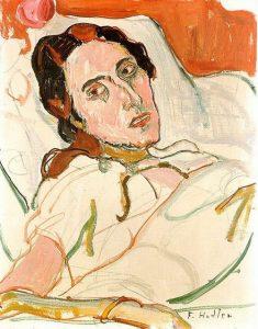 Ferdinand Hodler, Portrait de Valentine Godé-Darel malade, 1914, 43x33cm, Kunstmuseum Bâle