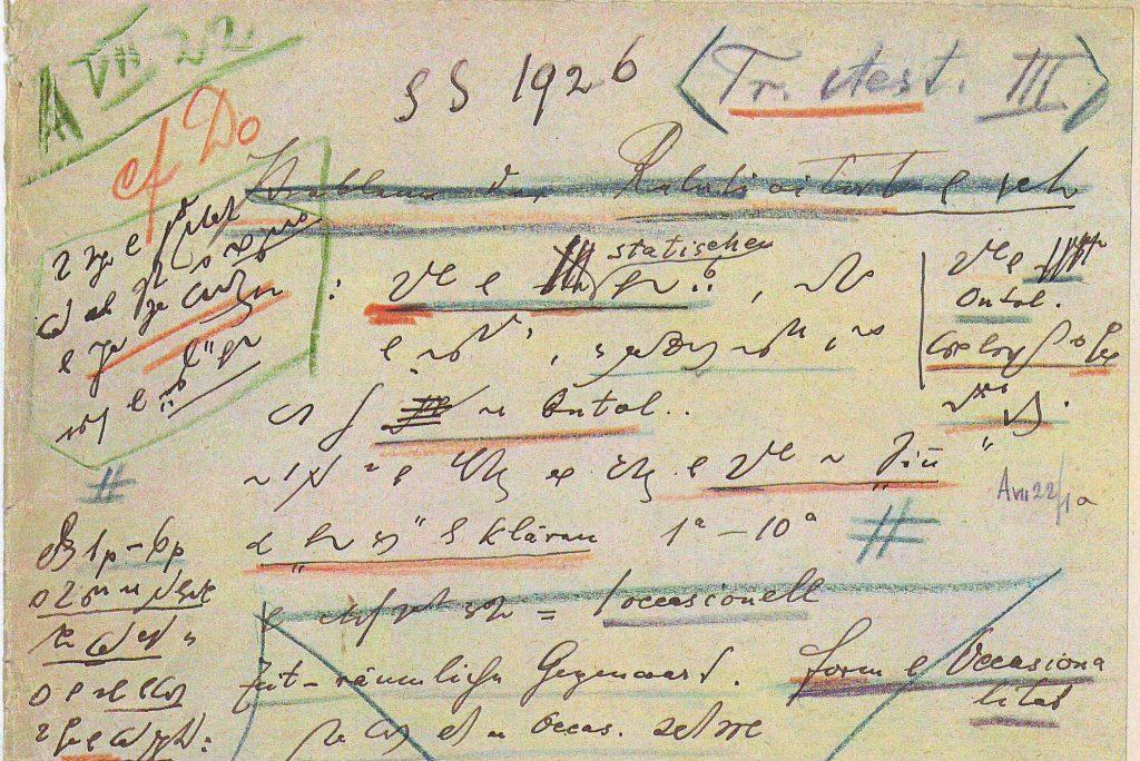 Husserl schrieb ca. 40.000 Blätter in Gabelsberger Stenographie