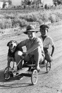 Klonkie with kleinbaas, Bootha Plots, Randfontein,1962