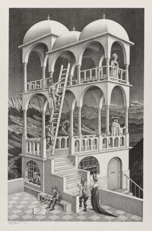 M. C. Escher Belvedere May 1958 lithograph