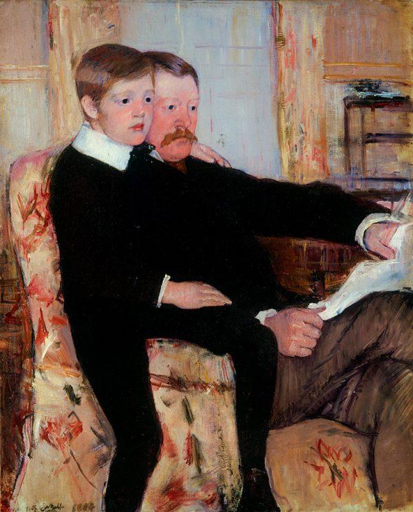 Mary Cassatt, Alexander J. Cassatt et son fils Robert Kelso, 1884-1885. Huile sur toile, Philadelphia Museum of Art.