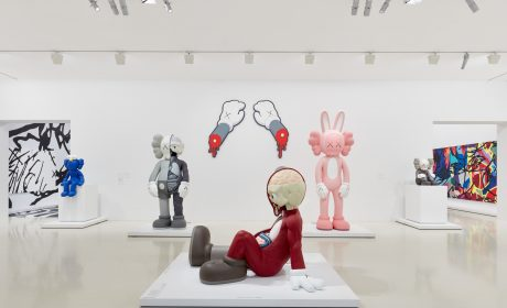 Image Caption KAWS THE KAWS ALBUM 2005 acrylic on canvas 101.6 x 101.6 cm Private collection © KAWS Installation view of KAWS' MAN'S BEST FRIEND, 2014 on display in KAWS: Companionship in the Age of Loneliness at NGV International, Melbourne 2 0 September 19 – 13 April 2020 . Photo © Tom Ross Installation view of KAWS: Companionship in the Age of Loneliness at NGV International, Melbourne 2 0 September 19 – 13 April 2020 . Photo © Tom Ross