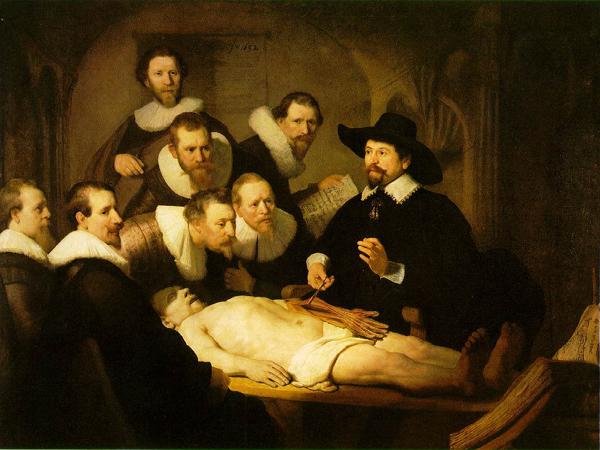 REMBRANDT - La Leçon d'anatomie du docteur Tulp, 1632 2